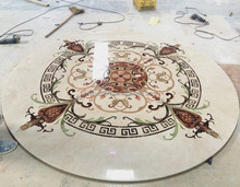 "96""Personal redsident and commercial modern customized design water jet marble medallion"