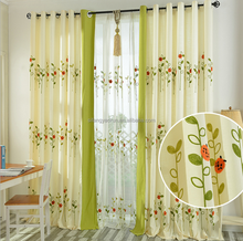 Garden embroidered curtains Fresh living room bedroom factory direct sales curtain
