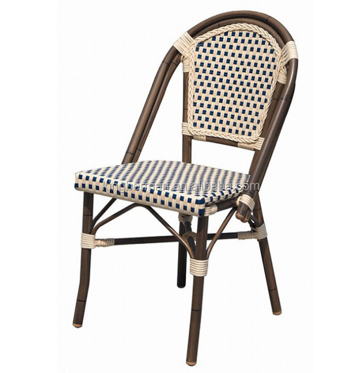 Outdoor Rattan Furniture French Bistro Chairs Metal Bistro Chair