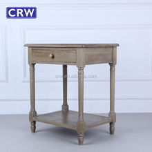 Vintage Industrial Rustic Furniture Bedside Tables with Drawers Wooden Bedside Cabinet