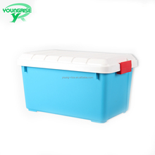 wholesale Car storage organizer Lockable plastic moving boxes food storage containers with handle