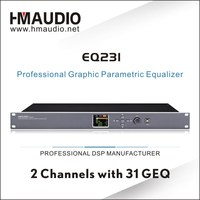 Good quality digital acoustic Equalizer EQ231 with professional PC software