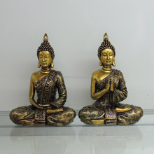 Golden color thailand buddha murti home decor for sale