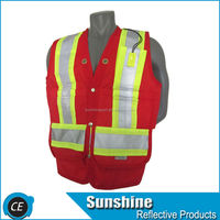 high quality security ansi motorcycle safety vest