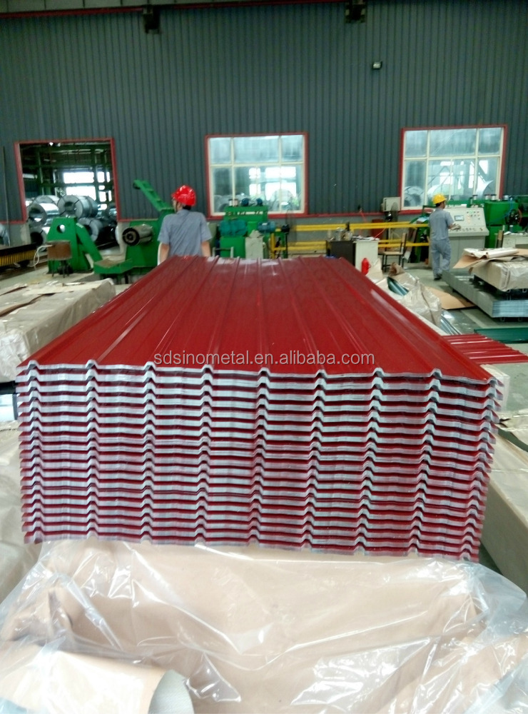 wholesale competitive price red color PPGI corrugated roofing sheets
