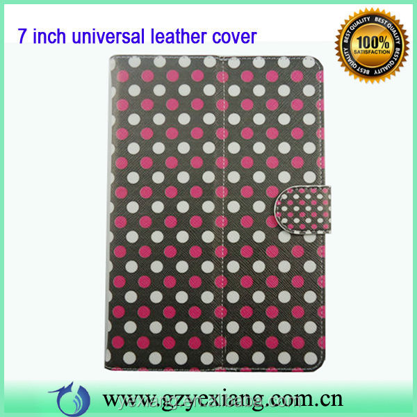 New Product PU Universal 7 inch Tablet Case Stand Cute Leather Cover