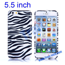 New Arrived Zebra Stripes Pattern Soft TPU Case for iPhone 6 Plus 5.5 inch