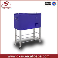 Outdoor Display Moving Cooler Box For Beverage
