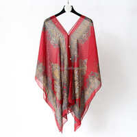 New style 2016 summer poncho sun beach wear,fashion lady multifunctional pareo sarong with 15 colors