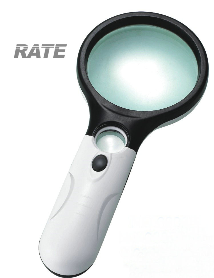 Handheld Magnifying Glass with LED Light for Reading