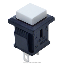 Panel Thickness 3mm off-(on) square mini Push button switch for toy