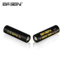 Factory price BASEN 18650 2500mah 3.7v lithium battery 35A max. discharge for box mod