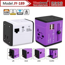 JY-189 2016 Hot Selling Universal Wifi travel adapter with dual USB