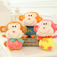 OEM 18cm hot selling Doll toy animal for toy catcher machine/crane machine little smill monkey stuffed lovely plush soft toys