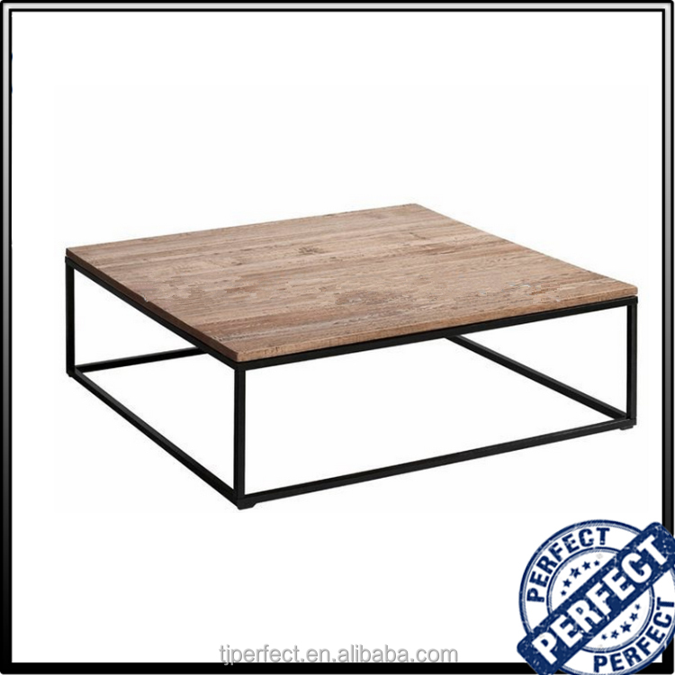 wooden cheap and nice design tea table, solid wood short leg coffee table