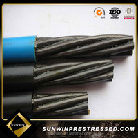 High Tension Low Relaxation Unbonded Steel Strand Wire