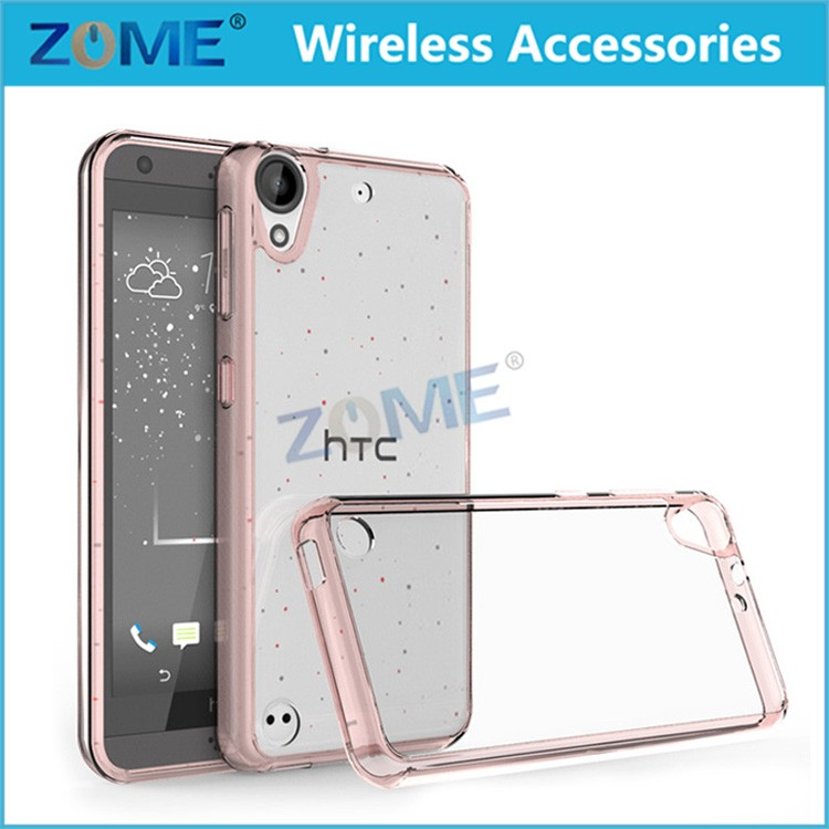 New Acrylic Crystal Clear Cover Protective Bumper Case For HTC Desire 530