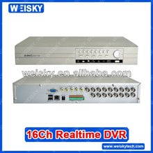 WEISKY 16CH H.264 cctv camera dvr+Support 2ch Full D1 realtime + 6ch Full CIF realtime recording resolution