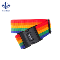 alibaba Eco-friendly polyester sublimation printing baggage band strap luggage belt with buckle