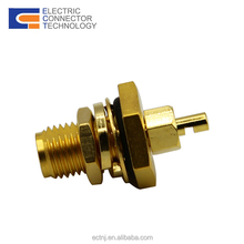 Female plug back bulkhead with extended pin rf sma connector waterproof