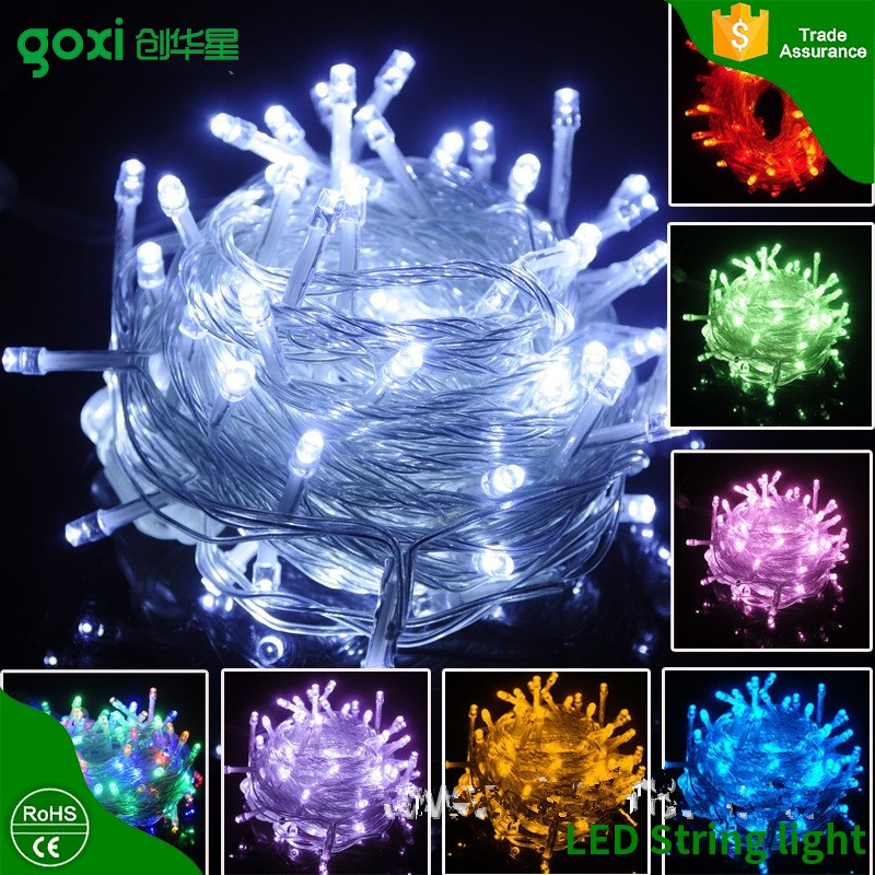 outdoor decoration waterproof fairy light/battery powered led christmas lights,12 volt led string Any color available