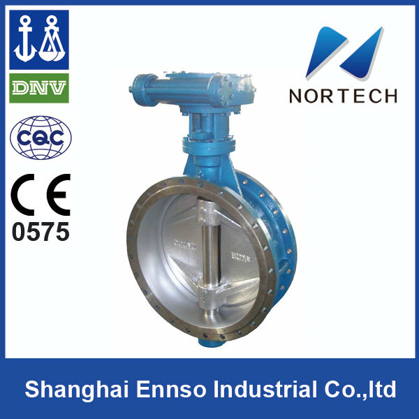 2014 high quality Double Flange auto butterfly valve