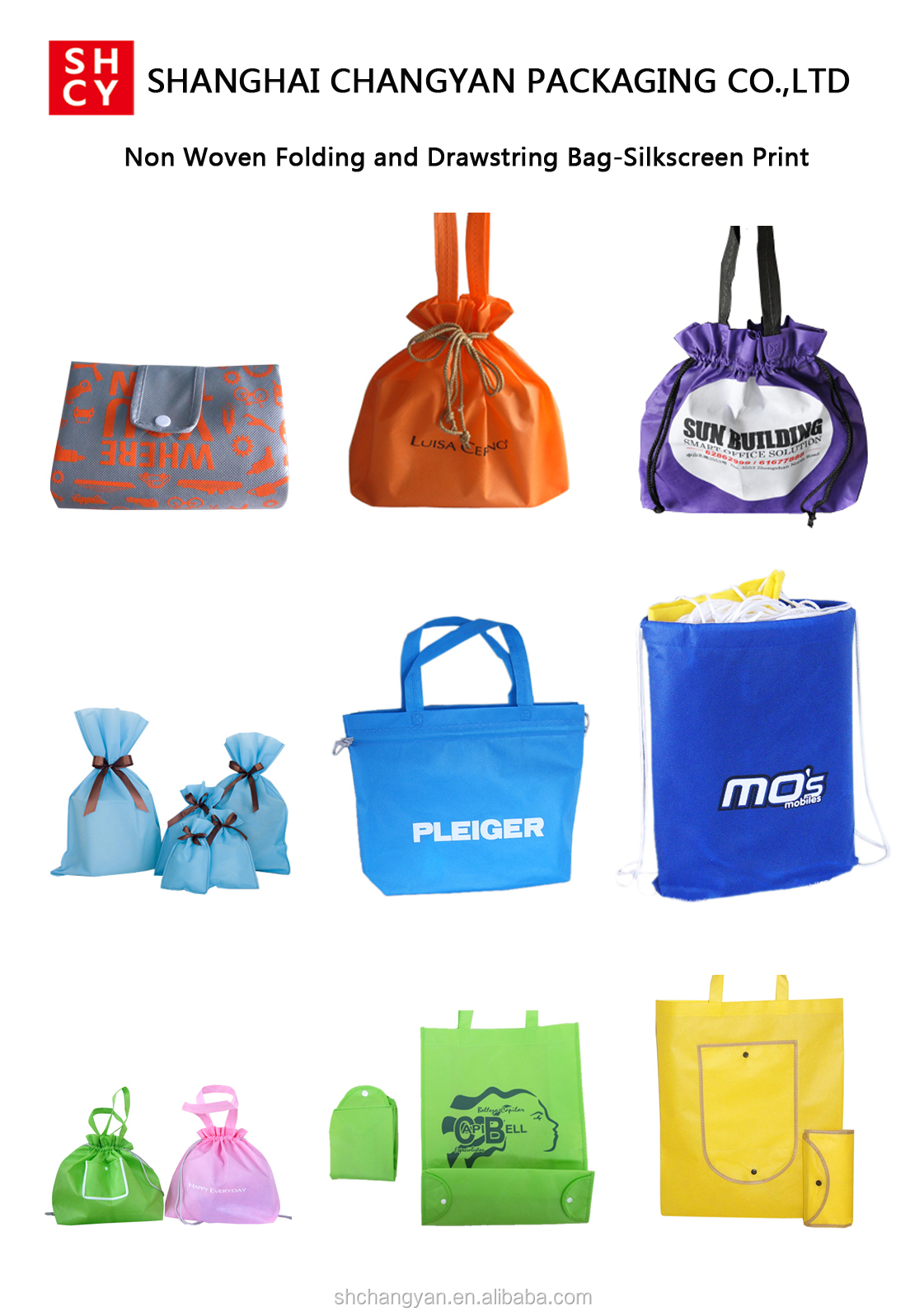 non woven folding and bag