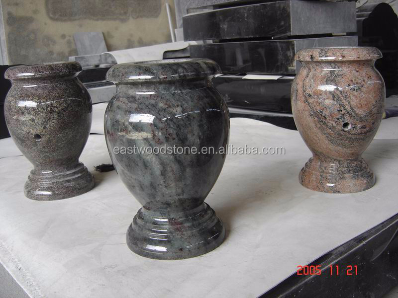 Small Western Style Funeral Potgranite Flower Vases For Graves
