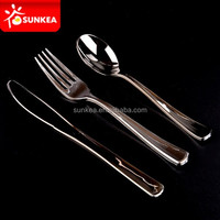 Electric plating plastic disposable cutlery tableware for restaurants