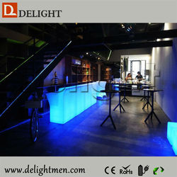 Cheap remote control illuminated mobile sink for bar counter