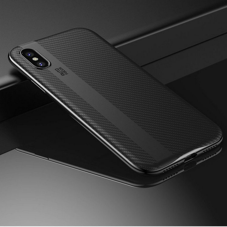 TPU carbon fiber cell phone case , best selling phone shell , newest arrived back cover for Iphonex