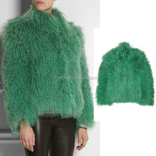 YR690 New Arrival Winter Long Fur Coat/Beautiful Mongolian Lamb Coat
