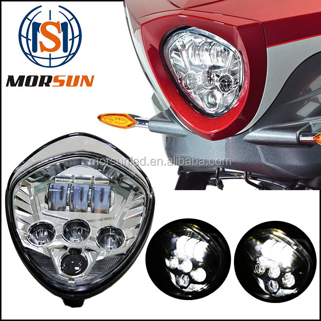 2016 new headlight for Polaris Victory Motorcycle BLACK chrome LED Headlight in automobiles & motorcycles