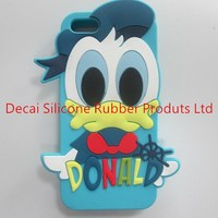 beautiful silicone decorate cell phone case with personalized pack