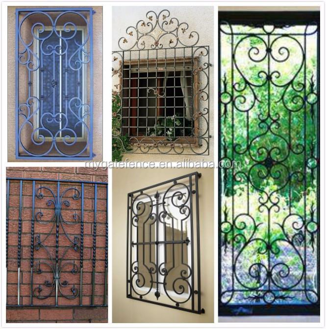 Yishu Factory Modern Simple Design Wroguht Iron Window