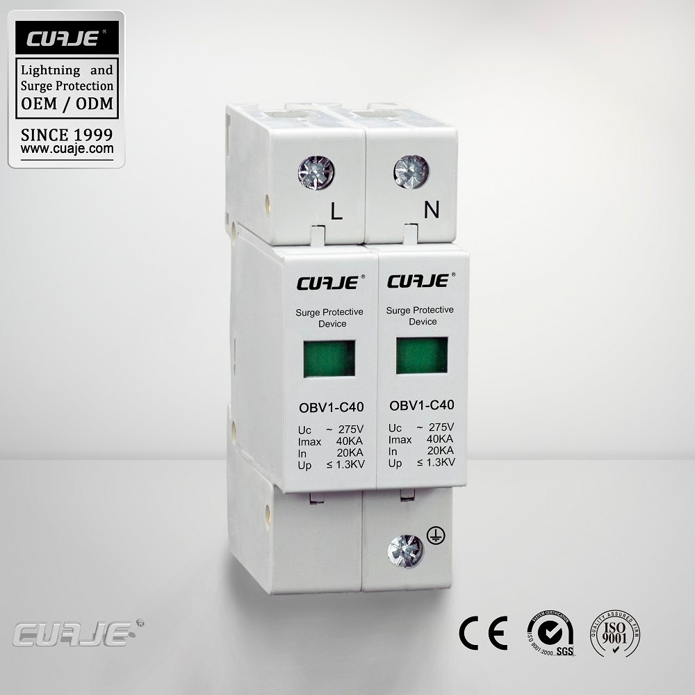 Type 2,Class C,220V whole house surge protector for TT,IT,TN-S system