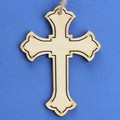 unfinished laser cut wooden cross for sale