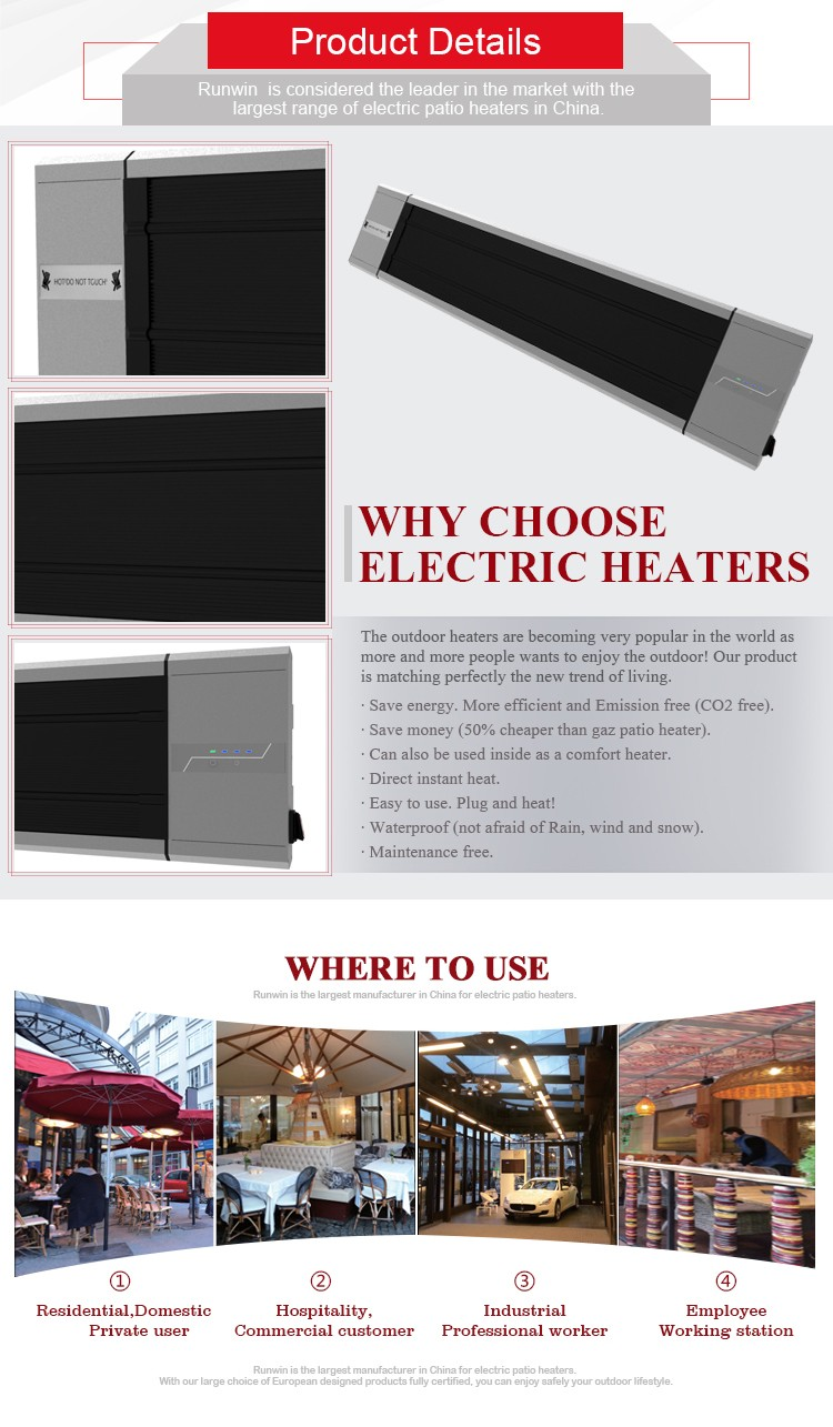 2017 best sales ir carbon fiber panel heater