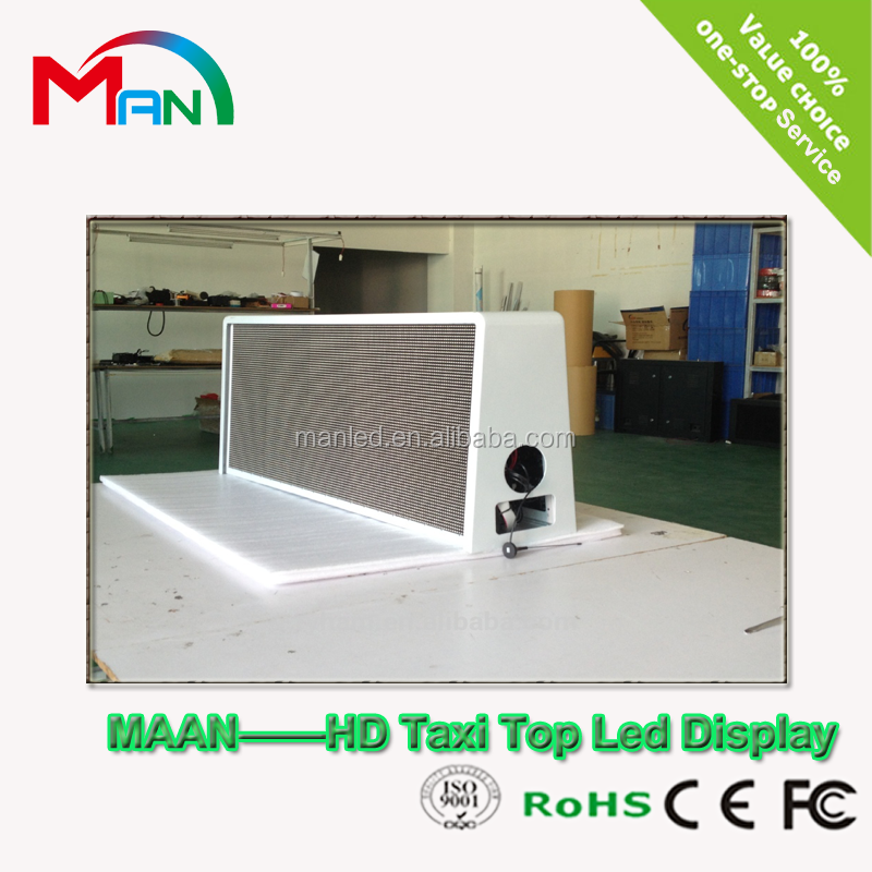 Cheaper Price Double Sided P5mm Car Roof Sign LED /Taxi Top LED Display for Video Advertising