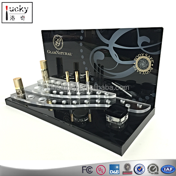 Black Acrylic Cosmetic Counter-top Display