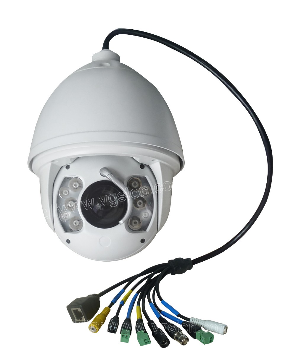 Ambarella A5 CPU Onvif SONY CMOS Protocol IR 150M 1080P WDR 20X Zoom High Speed PanTilt Dome PTZ Camera