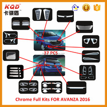 Hot selling chrome full chrome kits car accessories for Toyota avanza 2016