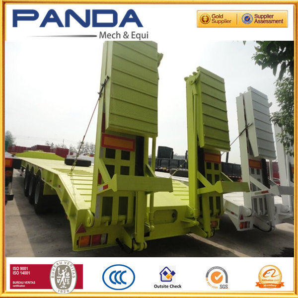 china trailer supplier manufacturer 40-60ton 3 axles heavy duty low bed trailer