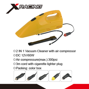 X-racing NMVC819 Car cleaning tool small portable strong suction 12V DC battery powered hand vacuum cleaner with air compressor