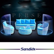 Sandiex <strong>Modern</strong> home furniutre rattan sofa living room furniture sofa indoor and outdoor made in China