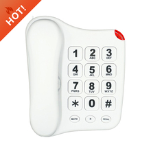 Big button landline phone for elderly wall mounted house telephone