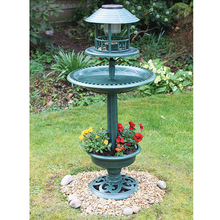 solar bird bath feeding station hotel