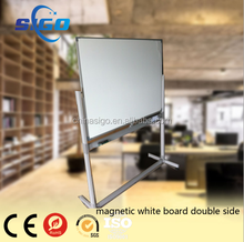 aluminum frame magnetic white board with stand