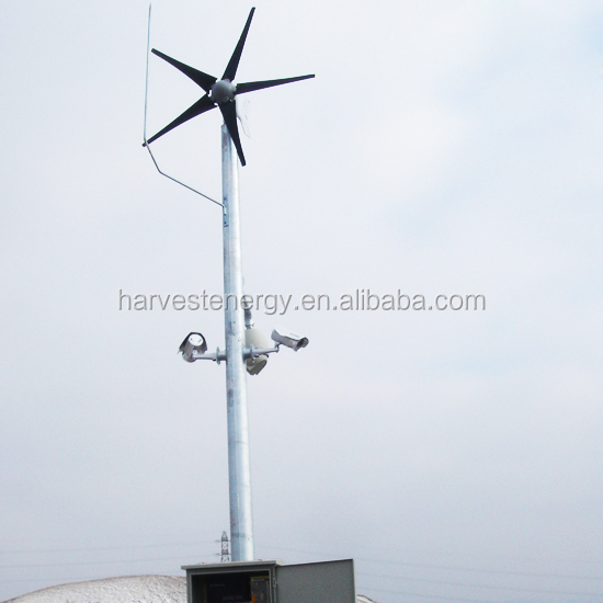 MINI 400W 3 blades 12v/24v Wind Generator with MPPT build-in controller for Home and solar street light