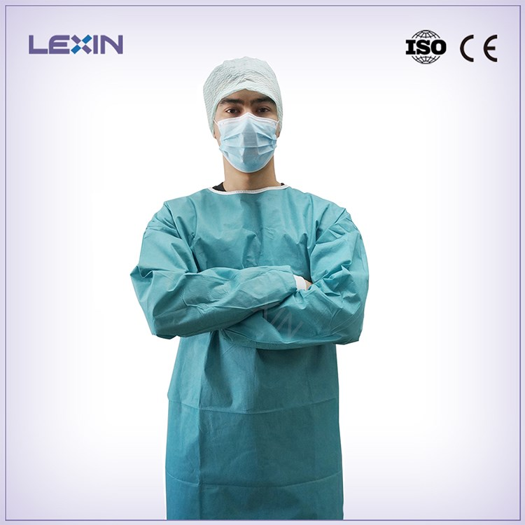 Disposable sterile non-woven surgical gown